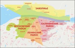 Карта районов города Чебоксары