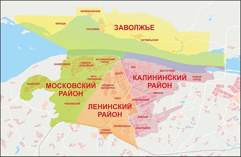 бла-бла-бла.  Вкрадце выглядит так.  Статья 3. Граница города Чебоксары.